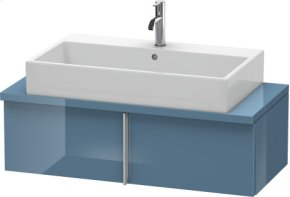 Vero Vanity Unit For Console Compact, Stone Blue High Gloss Lacquer