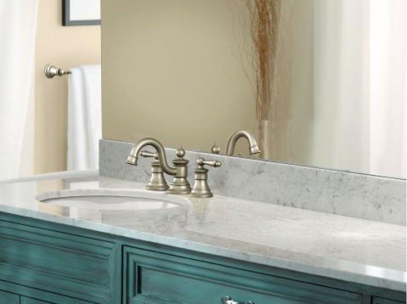 Waterhill brushed nickel two-handle bathroom faucet