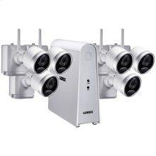 6-Channel Wire-Free HD Security System with 6 Wire-Free Cameras