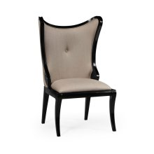 "Black Painted ""Butterfly"" Upholstered Side Chair"