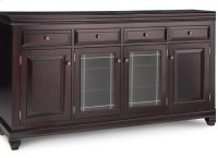 Florentino Sideboard w/2 Wood Doors &2/Center Glass Door &4/Dwrs & 2/Wood & Glass Adjust. Product Image