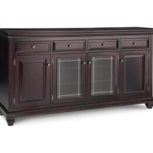 Florentino Sideboard w/2 Wood Doors &2/Center Glass Door &4/Dwrs & 2/Wood & Glass Adjust.