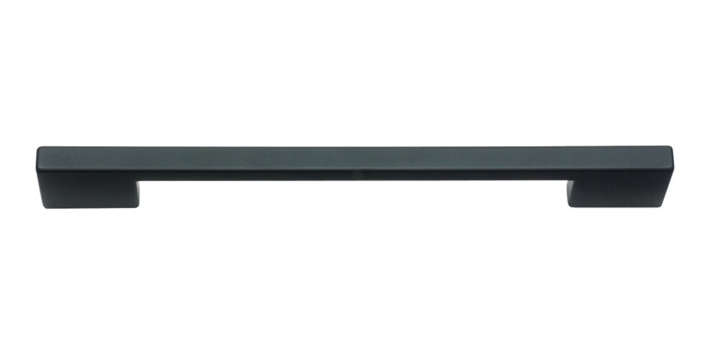 Thin Square Pull 7 9/16 Inch (c-c) - Matte Black