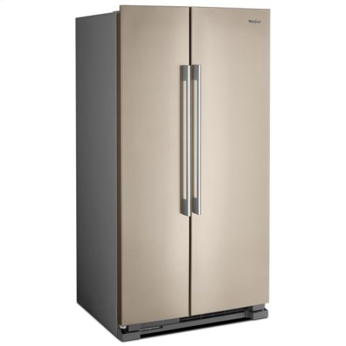 Whirlpool® 36-inch Wide Side-by-Side Refrigerator - 25 cu. ft. - Sunset Bronze