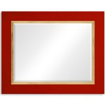 "Lipstick & Gold ""Homespun"" Mirror"