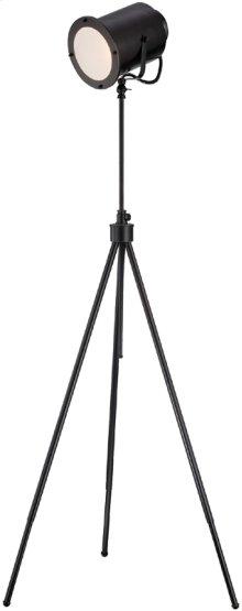 Metal Floor Lamp, Dark Bronze, E27 Cfl 23w