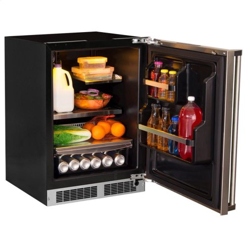 "24"" All Refrigerator with Drawer Storage - Panel-Ready Solid Overlay Door with Lock - Integrated Right Hinge (handle not included)*"