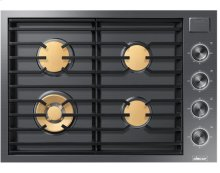 """30"""" Drop-In Gas Cooktop, Graphite Stainless Steel, Natural Gas"""