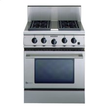 "GE Monogram® 30"" Free-Standing Professional Gas Range with 4 Burners and Convection Oven (Liquid Propane)"