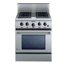 """GE Monogram® 30"""" Free-Standing Professional Gas Range with 4 Burners and Convection Oven (Liquid Propane)"""