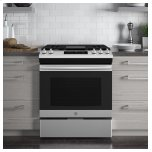 "GE Ge® 30"" Slide-In Front Control Gas Range"