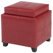 Anton II Storage Ottoman in Red Product Image