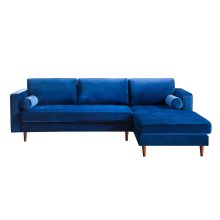 Como Navy Velvet Sectional RAF