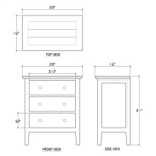 Aries 3 Drawer Chest