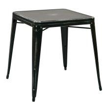 Bristow Antique Metal Table In Antique Black (kd)