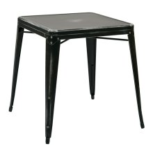 Bristow Antique Metal Table In Antique Black (kd)