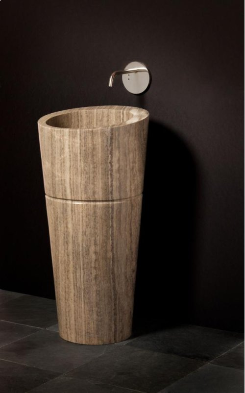 Veneto Pedestal Sink Siena Silver Gray Marble