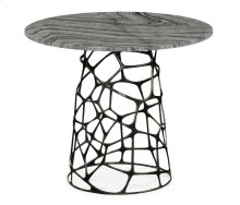 Round Geometic Brass Coffee Table with A Grey Marble Top