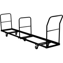 Vertical Storage Folding Chair Dolly - 50 Chair Capacity
