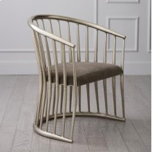 Spindle Chair-Pewter Mohair-Nickel