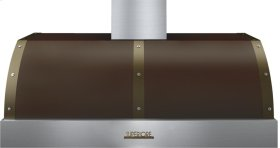 Hood DECO 48'' Brown matte, Bronze 1 power blower, electronic buttons control, baffle filters
