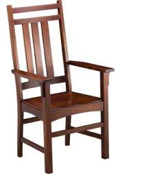 Mission Slat Arm Chair w/ Wood Seat