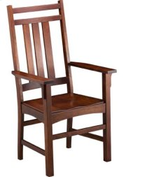 Mission Slat Arm Chair w/ Wood Seat