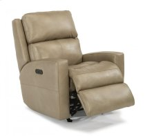 Catalina Leather Power Rocking Recliner with Power Headrest