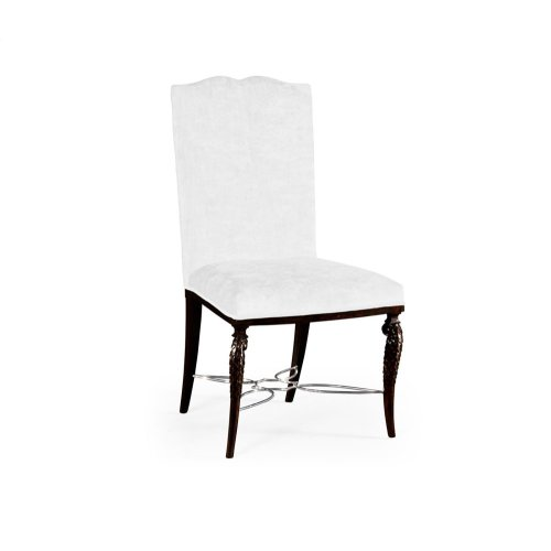 Icarus Dining Side Chair, Upholstered in COM