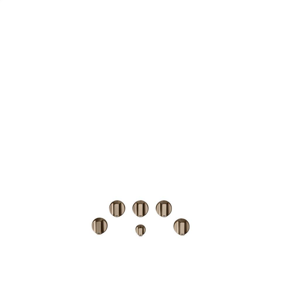 Caf(eback) 5 Gas Cooktop Knobs - Brushed Bronze  BRUSHED BRONZE