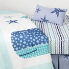 Little Whale 3-Piece Baby Crib Bed Set and Pillow - Blue Product Image