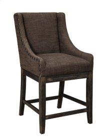 """Upholstered Barstool 24"""" Morianne Dark Brown"""