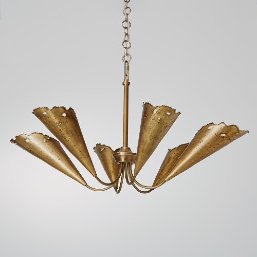 Melting Chandelier-Antique Brass
