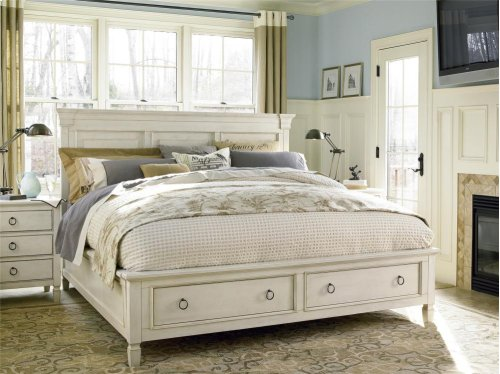 Storage King Bed - Cotton