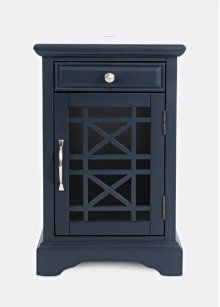 Craftsman Power Chairside Table - Navy