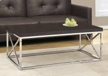 COFFEE TABLE - CAPPUCCINO / CHROME METAL