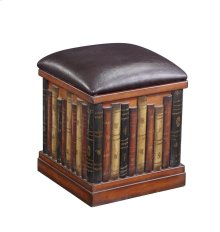 Leather Like Book Ottoman by Ultimate Accents