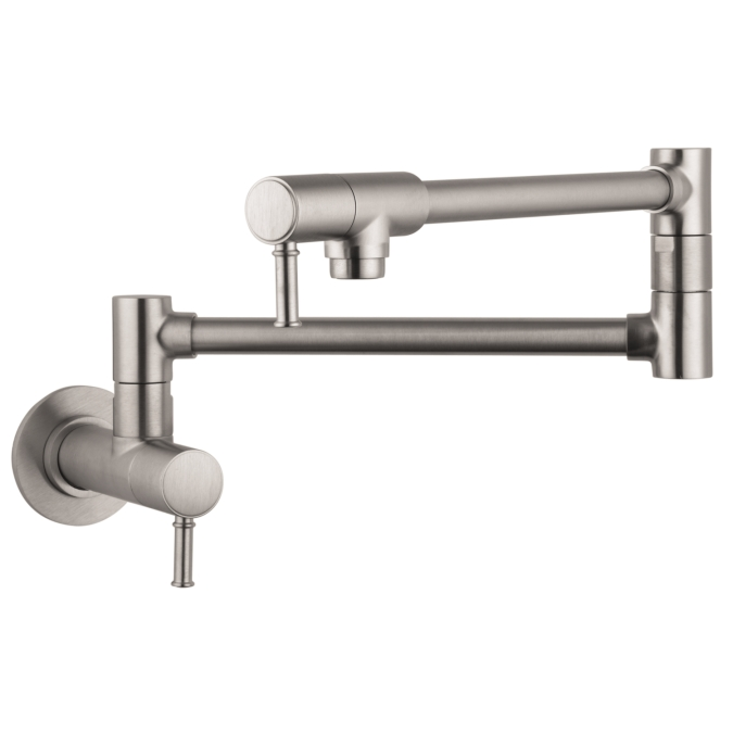 Stainless Steel Finish Pot Filler, Wall-Mounted