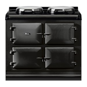 "AGAAGA Total Control 39"" Electric Black with Stainless Steel trim"