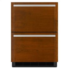 "Jenn-Air® Panel-Ready 24"" Double-Refrigerator Drawers - Panel Ready"