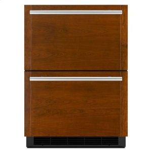 Jenn-AirJenn-Air® Panel-Ready 24? Double-Refrigerator Drawers - Panel Ready