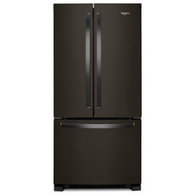 Whirlpool® 33-inch Wide French Door Refrigerator - 22 cu. ft. - Black Stainless