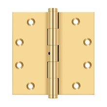 """4 1/2"""" x 4 1/2"""" Square Hinges - PVD Polished Brass"""