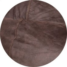Cover for Pillow Pod or Footstool - Faux Leather - Coffee