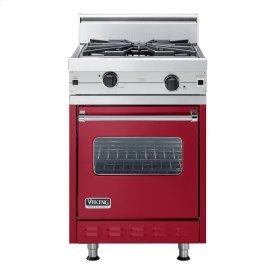 "Apple Red 24"" Wok/Cooker Companion Range - VGIC (24"" wide range with wok/cooker, single oven)"