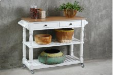 Sunset Trading Cottage Kitchen Island with Casters
