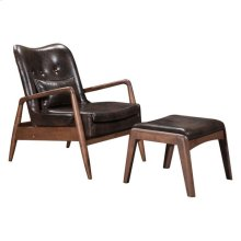 Bully Lounge Chair & Ottoman Brown