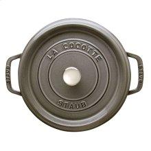 Staub Cast Iron 4-qt round Cocotte, Graphite Grey