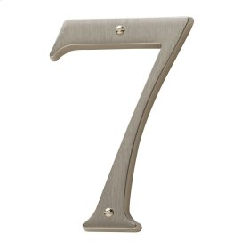 Satin Nickel House Number - 7