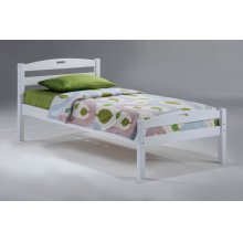 Sesame Bed in White Finish